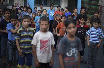GAZA SCHOOLS STILL FILLED WITH DISPLACED DESPITE SCHOOL YEAR START