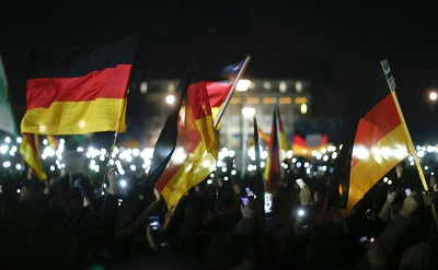 GERMANY ANTI-ISLAMIZATION DEMONSTRATION 2014: THOUSANDS IN DRESDEN PROTEST SHARIA LAW