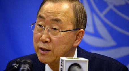 BAN-KI MOON CALLS FOR THE FULFILLMENT OF PLEDGES TO ALLEVIATE GAZA CRISIS