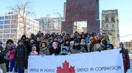 ONTARIO MUSLIMS HOLD PEACE GATHERINGS