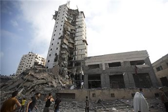 MINISTRY TO REBUILD TOWER BLOCK DESTROYED DURING GAZA WAR