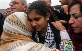 FREED PALESTINIAN SCHOOLGIRL INSISTS ON HER INNOCENCE