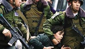 ISRAELI SOLDIERS KIDNAP FIVE YOUNG PALESTINIANS NEAR RAMALLAH