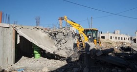 ISRAEL KNOCKS DOWN PALESTINIAN CIVILIAN HOME WEST AL QUDS