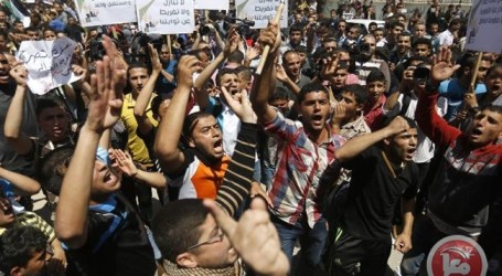 HAMAS POLICE BEAT, ARREST PROTESTERS AT GAZA RALLY