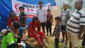 NEPAL VICTIMS RECEIVE IMMEDIATE MEDICAL ASSISTANCE FROM INDONESIAN TEAM