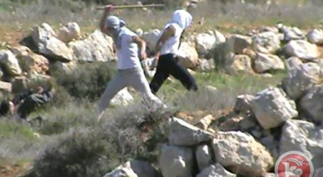 SETTLERS FILL ANCIENT WELL WITH EARTH AND ROCKS NEAR SALFIT