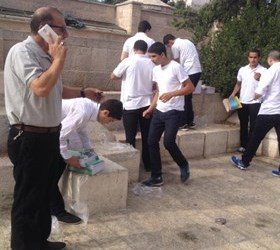 ISRAELI POLICE BARS ENTRY OF SCHOOL BOOKS INTO AL-AQSA, ARRESTS MINORS