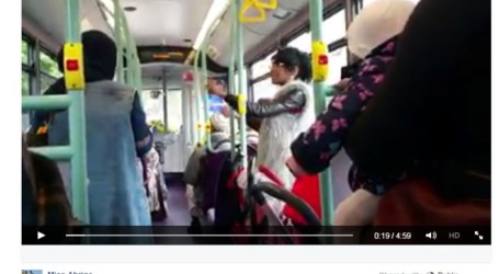 WOMAN ARRESTED OVER RACIST RANT ON LONDON BUS