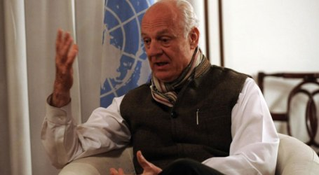 UN ENVOY ARRIVES IN SYRIA AHEAD OF PEACE TALKS