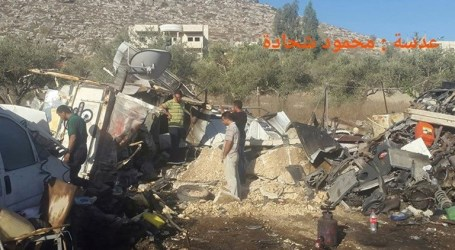 Israeli Army Junkyard, Agricutural Structures In Nablus