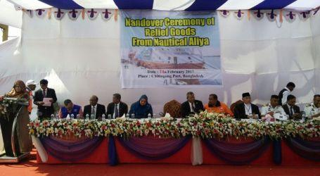 Humanitarian Aid of Food Flotilla For Myanmar Arrives in Bangladesh