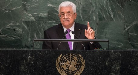 Palestine President Calls for Ending Israeli Occupation Within Set Timeframe