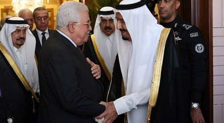 Saudi King, Palestinian Leader Hold Talks in Riyadh