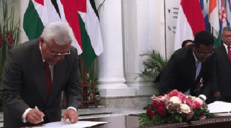 Indonesian National Zakat and UNRWA Signs MOU for Helping Palestinians