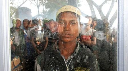 Boat Carrying Rohingya Muslims Lands in Indonesia's Sumatra Island