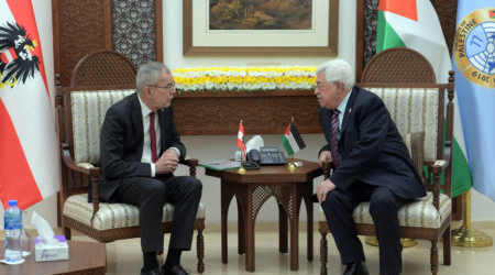 Austrian President Supports Two-State Solution for Palestine