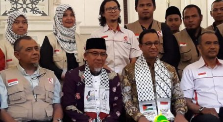 Governor Anies Invites 32 MER-C's Volunteers Before Depart to Gaza