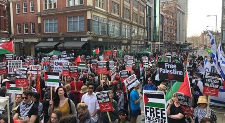 Thousands Rally in London Gather in Support on 1st anniversary of Great March of Return