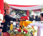 Indonesian Independence Day Ceremony, President Wears Traditional Dress