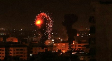 Israeli Warplanes Launch Air Strikes on Gaza Strip