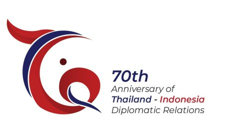 The 70th Anniversary Logo of Indonesia-Thailand Diplomatic Relations