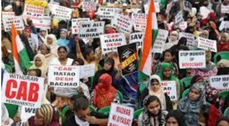Hundreds of Indian Muslim Women Hold Protest Citizenship Act