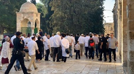 Dozens of Extremist Jews Storm Al-Aqsa