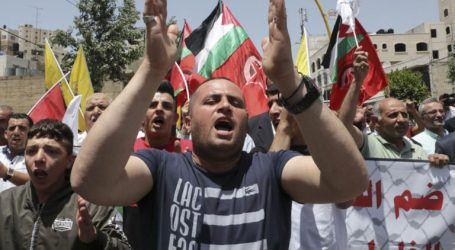 Residents in the West Bank and Gaza Demonstrate Against Annexation