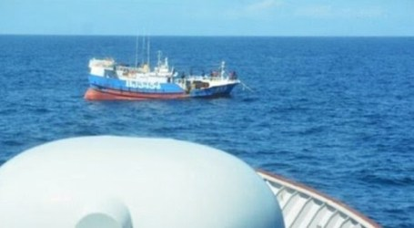 Indonesian Navy Captures A Taiwanese Boat in the North Natuna Sea