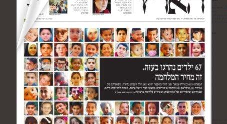 Israeli Paper Prints Photos of Palestinian Children Killed in 11-Day War in Gaza