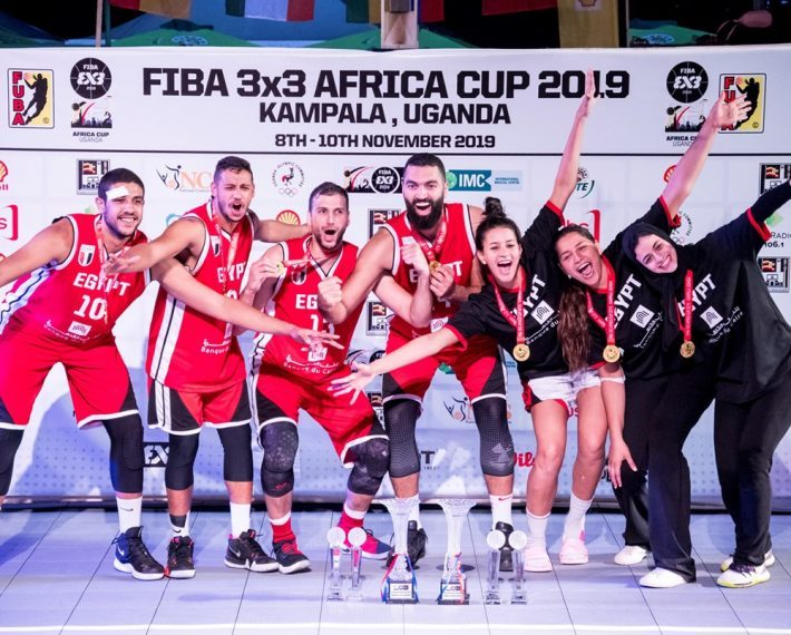 CAN Basket 3 × 3: Double champion of Africa, Men and Ladies, for Egypt.