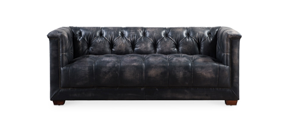 Sofas, tables, office desks, office chairs, decor, carpets, outdoor furniture. Buy Vintage tufted premium leather sofa Black 58570 in the ...