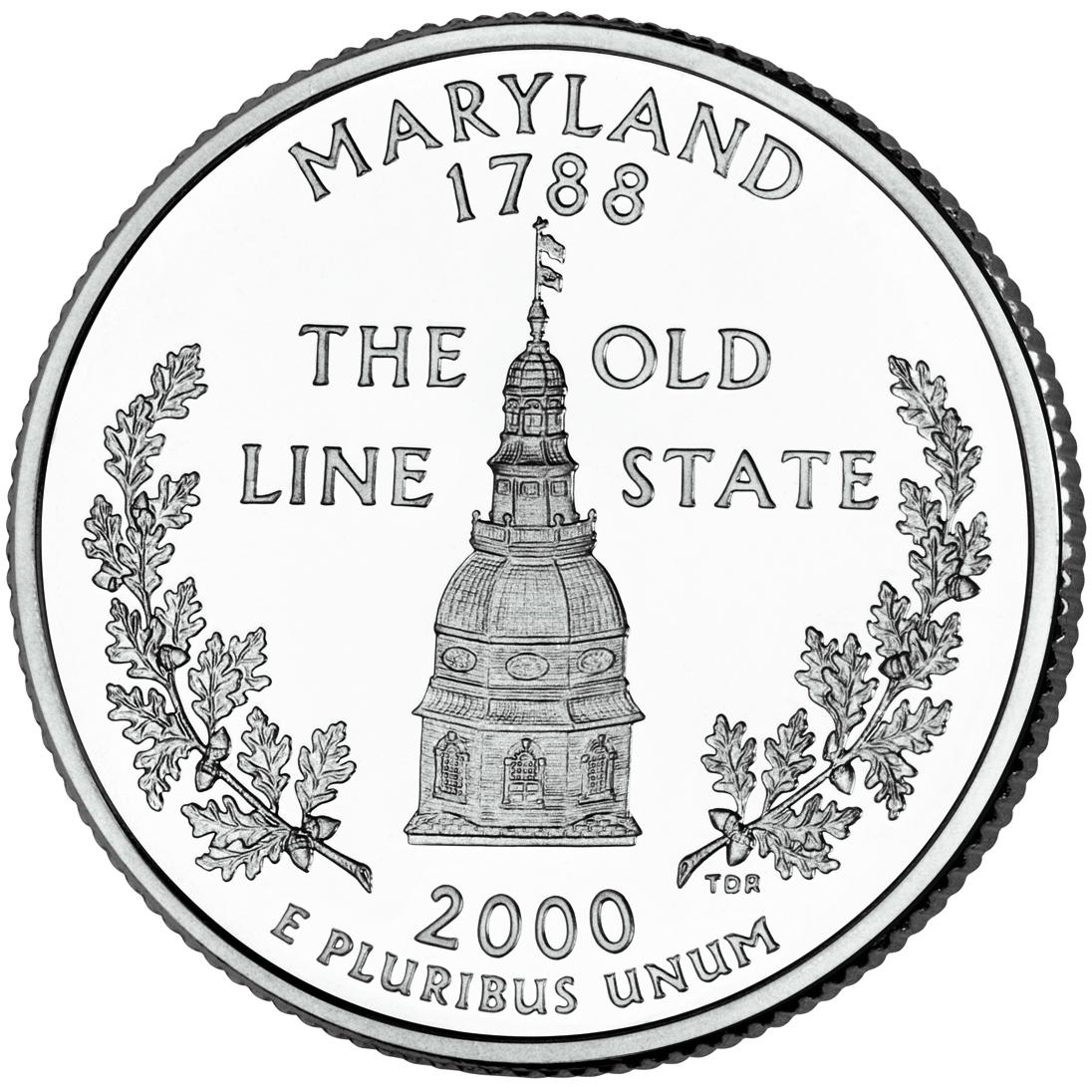 Dollar Washington Quarter Maryland