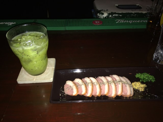 Kiwi Fruit Cocktail & Roast Duck