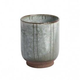 PEARL GREY STONEWARE CUP
