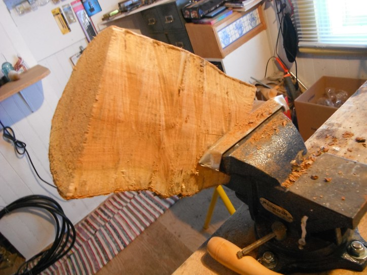 Crafting the burl at the workshop