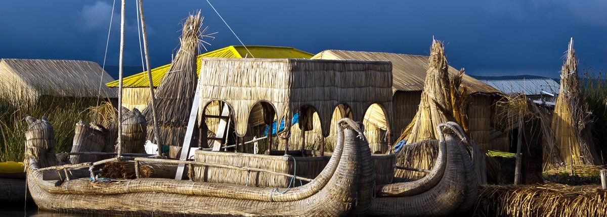 Perú Puno en el lago Titicaca