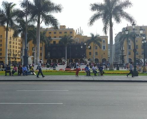 Meeting point of Lima Plaza de Armas