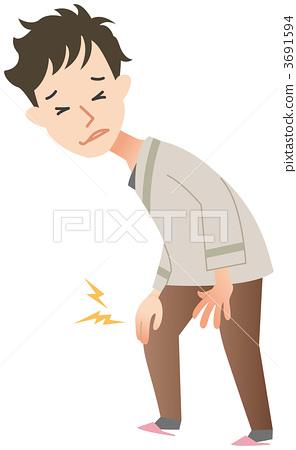 關節疼痛-插圖素材 [3691594] - PIXTA圖庫