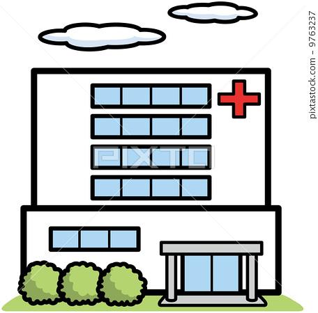 一家醫院-插圖素材 [9763237] - PIXTA圖庫