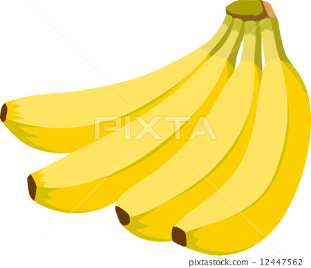 水果_香蕉-插圖素材 [12447562] - PIXTA圖庫