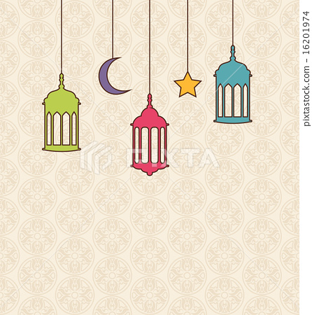 Islamic Background Arabic Lamps For Ramadan Kareem