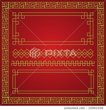 chinese new year border  vector elements   Stock Illustration     chinese new year border  vector elements