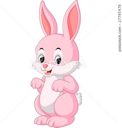 Cute Rabbit Cartoon Stock Illustration 27795476 Pixta