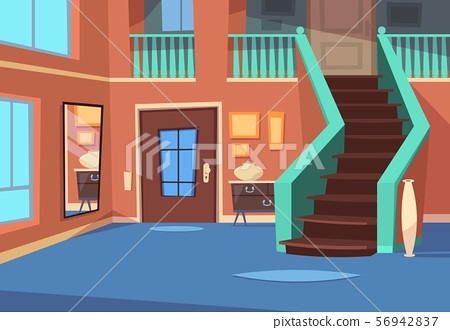 Cartoon Hallway House Entrance Interior With Stock   Home Entrance Stairs Design   Interior   Bedroom Home Kerala   Garden   Architecture   Fancy House