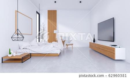 Modern Loft Interior Of Bedroom Design And Stock Illustration 62960381 Pixta