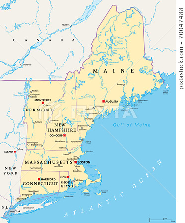 It is the smallest of the 50 us states by area and situated on. New England Region Of The United States Of Stock Illustration 70047488 Pixta