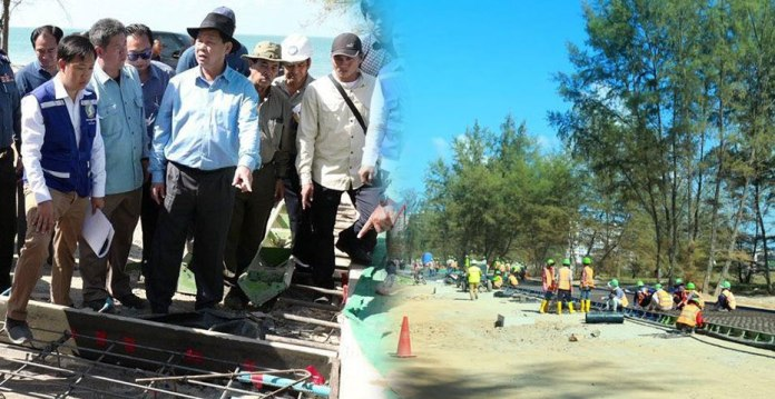 The Construction of 34 Roads in Sihanoukville has the unexpected fastest progress