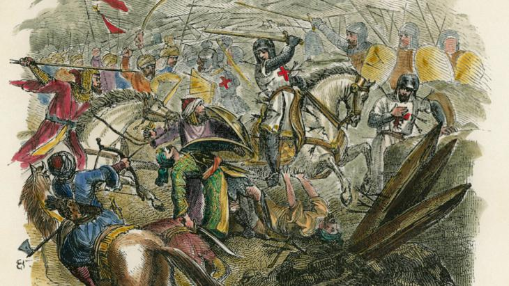 French knights from the Languedoc on the First Crusade by Pierre-R. d'Hautpoul (photo: picture-alliance/AKG)